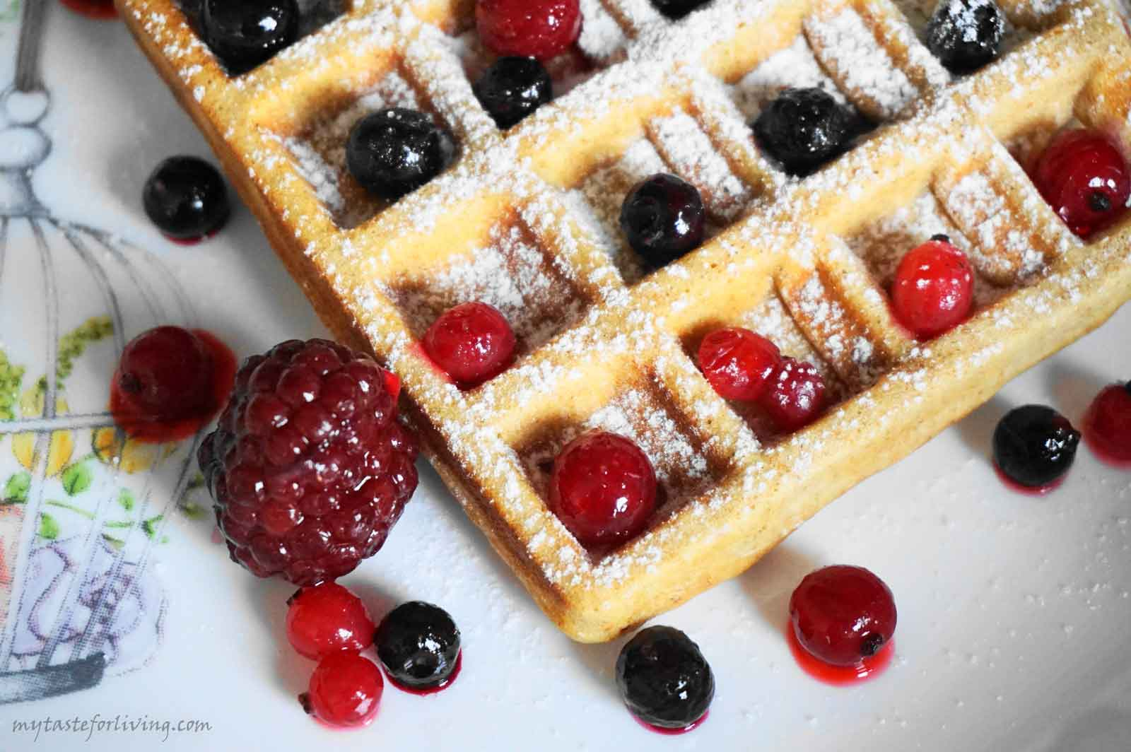 I offer you a recipe for waffles with whole wheat flour, which are very appetizing and delicious, and can be prepared very quickly.