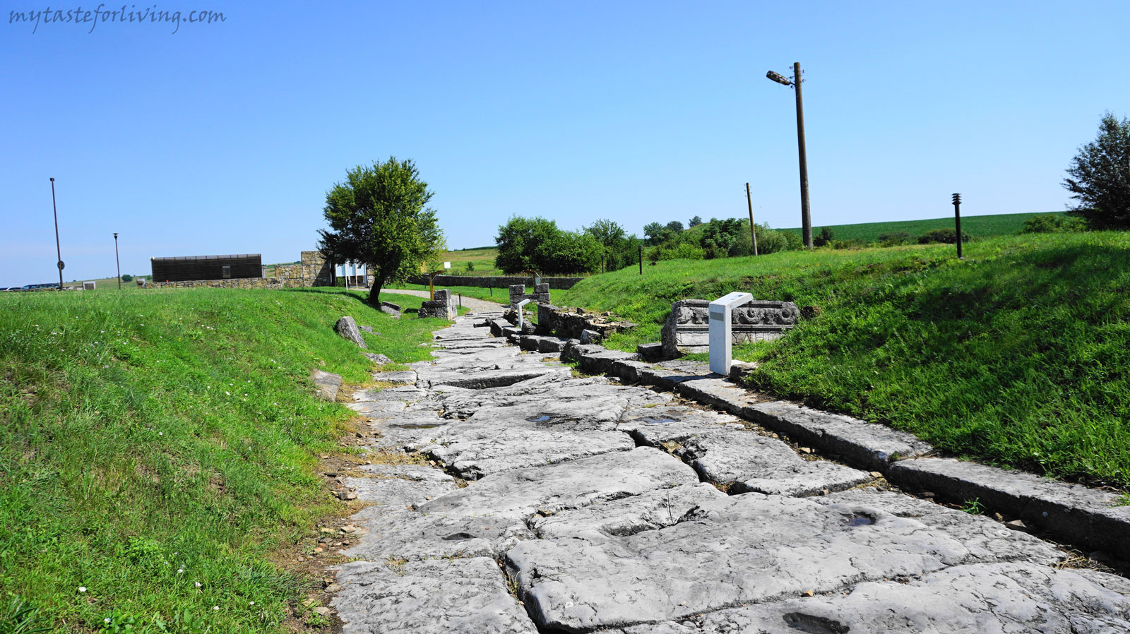 "The remains of the early Byzantine town of Nicopolis ad Istrum (translated ""City of Victory on the Danube"") are located about 20 km north of the town of Veliko Tarnovo, Bulgaria, on the road to Ruse."