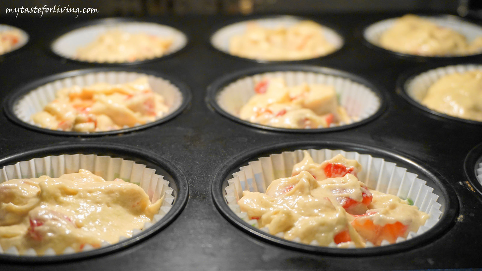 Muffins with strawberries and banana - delicious, soft, appetizing and satiating!