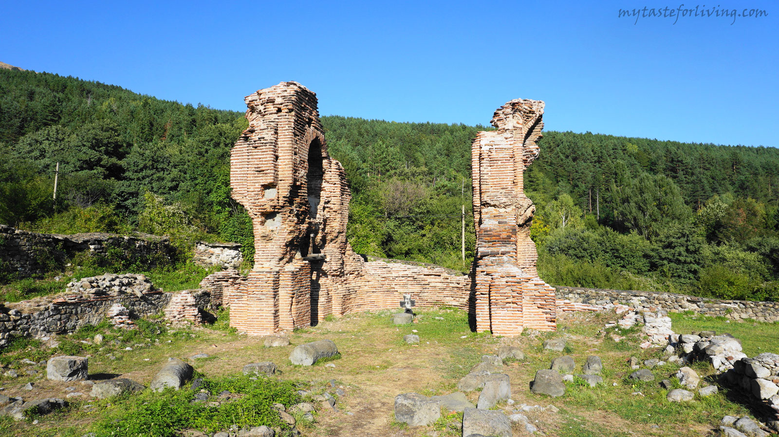 The Elenska Basilica is located between the town of Pirdop and the village of Anton, at the foot of the southern slopes of of Stara planina (Balkan mountains), Bulgaria. The place is very peaceful, very pleasant for a walk in the nature and suitable for picnics.