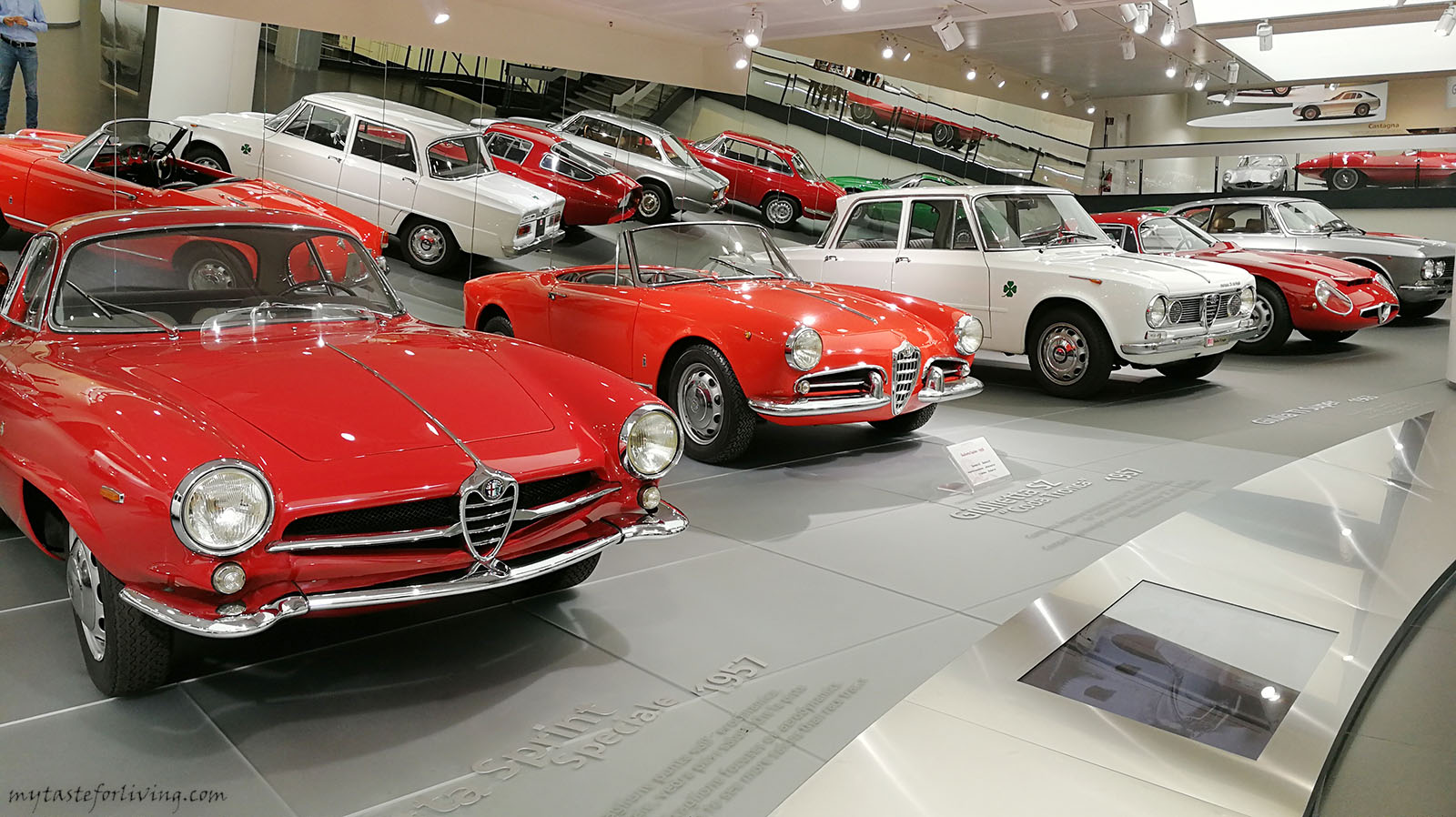 """The Alfa Romeo History Museum"" (Museo Storico Alfa Romeo) of the italian automotive company was opened on december 18, 1976. The museum was built in the city of Arese, 12 km from Milan."