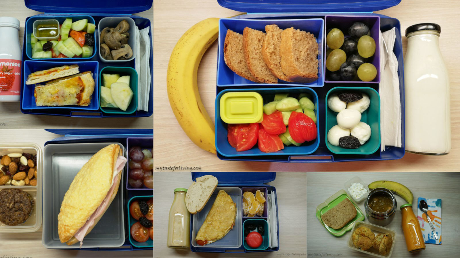 New 5 ideas for homemade food for school.